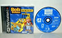 Bob the Builder: Can We Fix It (Sony PlayStation 1, 2001) PS1 PSOne PS2 CIB MINT
