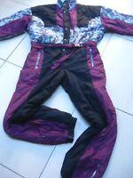 SKI SUIT size mens LARGE ladies UK 16 18 retro vintage festival 80s 90s jumpsuit