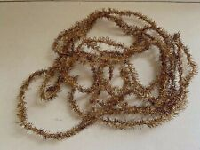 Vintage Antique Christmas Gold Tinsel Garland Victorian Feather Tree Germany 12'