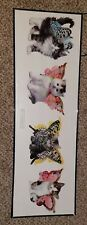 """KEITH KIMBERLIN """"Butterfly Kitties"""" POSTER PRINT 11.7 X 36 (Frame Not Included)"""