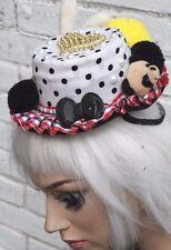 Kawaii lolita mini chapeau haut or coeur rockabilly pinup mad hatter pom pom