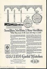 1924 GRUEN Watch advertisement, Pentagon Pocket Watch