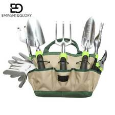 Garden Tools Kit 8 Piece Gardening Set with Oxford Bag, Gloves, Planting Tools