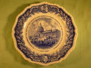 Mason's Commemorative Plate King George VI Visit to USA 1939 President Roosevelt