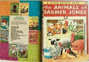 The Animals of Farmer Jones  1953 G edition Little Golden Book Reed Scarry