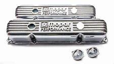 Nos Mopar Performance Polished Cast Aluminum Big Block Valve Covers 383 400 440