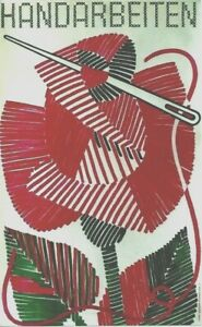Original vintage poster SWISS HAND CRAFT EMBROIDERY ROSE  c.1945