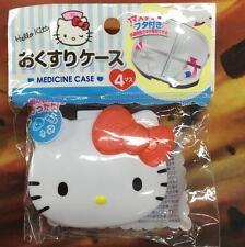 Cute Hello Kitty Pill Box Organizer Medicine Vitamin Storage Travel 4 Grid
