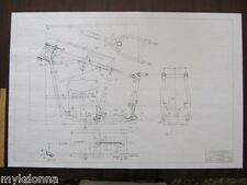 HARLEY DAVIDSON Pan Head 1958-64 Frame Blueprint Drawing poster print panhead