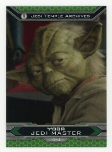 Yoda 2015 Topps Chrome Perspectives Jedi Master Gold Refractor #'d 20/50