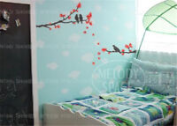 Red leaves Home Decor Removable Wall Stickers Decal Decoration Vinyl Mural