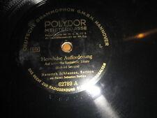 """10"""" 78 RPM vinyl HEINRICH SCHLUSNUS HEIMLICHE AUFFORDERUNG HEIMWEH Polydor"""