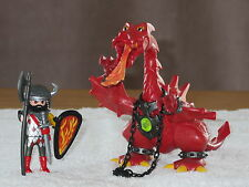 Superbe playmobil - 3327 - Chevalier - Chevalier/Dragon rouge - Comme Neuf -