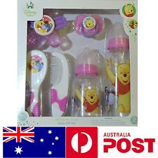 Disney Winnie the Pooh Baby 6 Pcs. Gift Set Feeding Bottle BPA DEHP free Girl 0+