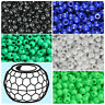 BeadTin Opaque 9mm Faceted Barrel Pony Beads (500pcs) - Color choice
