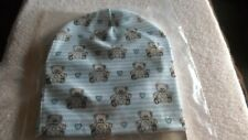 newborn hospital cap hat, teddy bear theme,