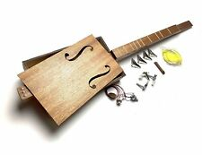 More details for deluxe cigar box guitar style kit self assembly 3 string strum stick