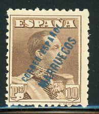 SPANISH MOROCCO MNH Selections: Scott #128 10P Brown (BLUE) CV$3++