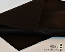 Black Merino Wool Blend Felt Fabric Yardage, Penny Rug, Candle Mat, Craft Felt