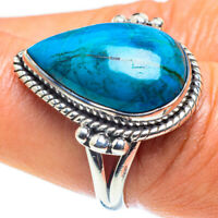 Chrysocolla 925 Sterling Silver Ring Size 8.5 Ana Co Jewelry R59073F