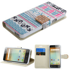 MyJacket Wallet Case + Diamond Bling Clasp for Alcatel OneTouch Elevate 5017