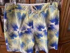 Strong boalt Men's Bathing Swimsuit size 38 Yellow Blue Board Shorts polyester