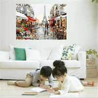 """20""""*16"""" Canvas PARIS STREET Paint By Numbers Artist Acrylic Painting Home Decor"""