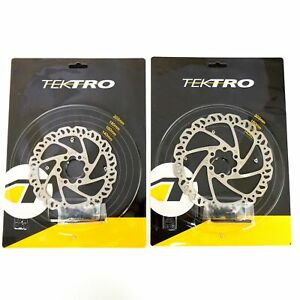 1 or 2 Tektro 140/160mm  Airflow 6 Bolt Disc Brake Road Bike Rotor Silver