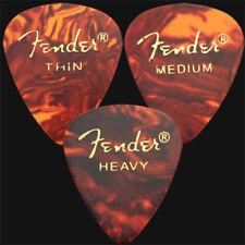 12 x Fender Classic Celluloid Guitar Picks In Tortoiseshell - 4 Of Each Size