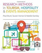 Research Methods in Tourism, Hospitality and Ev, Brunt, Horner, Sem HB-,
