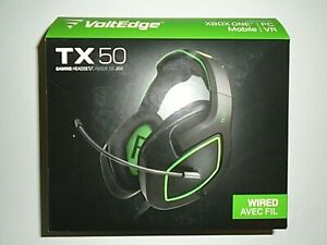 """Volt Edge TX50 Wired Gaming Headset - XBOX ONE/PC/Mobile/VR """"NEW"""""""