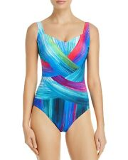 ac8e4a8e4cf38 NEW Gottex Festival Shaped Square Neck One Piece Swimsuit Size 14