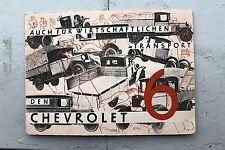 20520 publicité prospectus catalogue CHEVROLET 6 aussi pour ï. transport de 1934
