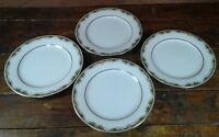 Set of 4 Salad Plates Noritake Warrington 6872 Japan Dinnerware 8 1/4 Inch