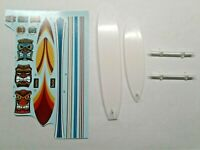 AMT SURF BOARDS (2) ,DECALS,ROOF RACK SALVAGED FROM A 1965 CHEVELLE SURF WAGON