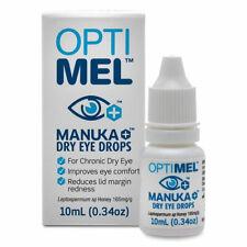 OPTIMEL MANUKA DRY EYE DROPS 10ML FOR CHRONIC DRY SORE IRRITATED EYES OPTI MEL