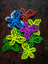 10PC Mixed Color Wooden Buttons Butterfly Sewing or Scrapbooking 25mmX21mm #N11