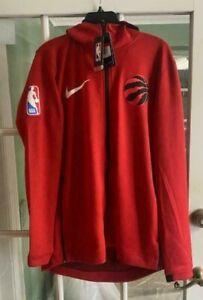 Men's Nike NBA Toronto Raptors Therma Flex Red Showtime Hoodie 940164-657 Size L