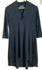 SYMPLI the BEST of Canada Black Tunic Dress Top Cowl Neck Size 6 WOW!
