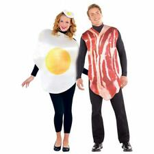 ADULTS BREAKFAST BUDDIES BACON EGG FUNNY COMEDY COUPLE FANCY DRESS PARTY COSTUME