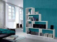 New Camila Living Room Furniture 4 Tier Bookcase Display Shelf Unit White Shine