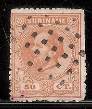 Suriname Nummer  13   Gebruikt met nummerloos puntstempel