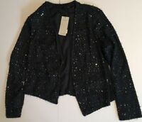 NEXT WOMENS CARDIGAN SIZE 16 NAVY BLUE WITH SEQUINS NEW WITH TAGS