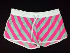 OP Shorts Swim Surf Paddle Pink & Gray Striped Size XL (15-17) Womens (K)
