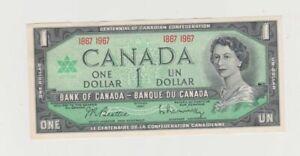 1967 one dollar banknote. Beattie/Rasminsky