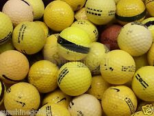 200 YELLOW Practice Range Shag Hit-Away Used Golf Balls - FREE SHIPPING