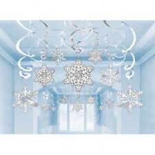 30 X pendant Flocon de Neige de Noël & Feuille Tourbillon Décoration de Fête