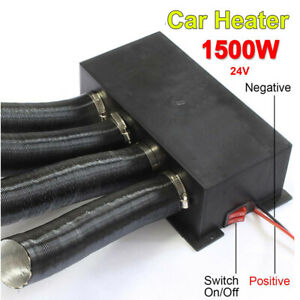 Universal Black 4-Hole Car Auto Heater Cooling Fan 1500W 24V Defroster Portable