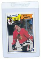STEVE LARMER 1983 O-PEE-CHEE OPC NHL Hockey Chicago Blackhawks Rookie CARD #105
