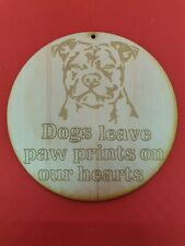 Staffy Staffordshire Bull Terrier Dog Memorial Plaque on 3mm Ply Wood